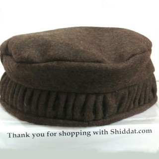 Afghani Pakol Hat-Chocolate